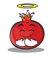 innocent face pomegranate cartoon character style vector image vector image