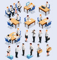 isometric employment interview collection vector image vector image