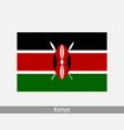 kenya kenyan national country flag banner icon vector image vector image