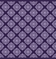 korean traditional purple flower pattern vector image