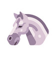 light grey horse head side view flat icon vector image vector image