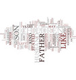 like father text background word cloud concept vector image vector image