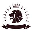 lion head emblem vector image vector image