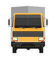 lorry with grey trailer isolated on white front vector image vector image