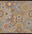 mandala seamless pattern indian decorative vector image vector image