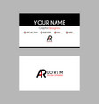 modern creative business card template with ar vector image vector image