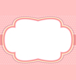 ornate pink bubble frame vector image vector image