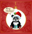 Panda Christmas Card vector image vector image