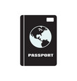 passport icon design template isolated vector image
