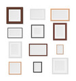 pictures frames variety on wall realistic mockup vector image vector image