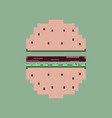 pixel icon in flat style hamburger vector image vector image