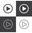 play button icons vector image vector image