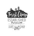 Premium Forest Camp Vintage Emblem vector image vector image