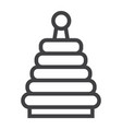 rainbow pyramid toy line icon kid and play vector image