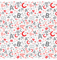 red and grey abc letter background seamless vector image vector image