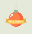 retro decorative christmas ball christmas card vector image vector image