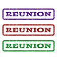 reunion watermark stamp vector image vector image