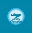 santa claus is flying in an airplane with gifts vector image vector image