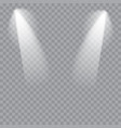 scene illumination cold light effect stage vector image vector image