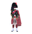 scottish traditional clothing vector image vector image