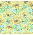 seamless pattern floral chamomiles autumn flowers vector image vector image