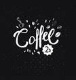simple black and white advertising sign for coffee vector image vector image