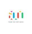 six thousand subscribers baner colorful logo for vector image vector image