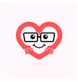 Smile heart shape and handshake logo vector image vector image