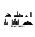 spain canary islands flat travel skyline set vector image vector image