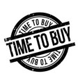 time to buy rubber stamp vector image