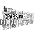 who are the crabs in your life text word cloud vector image vector image