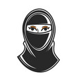 woman paranji burqa or chadah in arab emirates vector image vector image