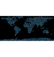 World map composed of dots vector image vector image