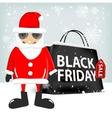 black friday shopping bag vector image