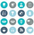 Set of dental icons Silhouette White Flat design vector image