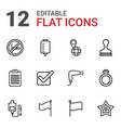 12 mark icons vector image vector image