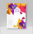 a brochure template modern vector image vector image