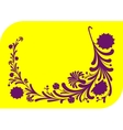 Abstract lilac floral ornament vector image