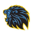 angry lion roaring logo vector image vector image
