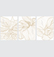art floral background with hand drawn line vector image