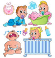 babies theme collection 1 vector image