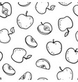 beautiful black and white seamless doodle pattern vector image vector image