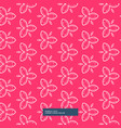 beautiful pink flower pattern background vector image vector image
