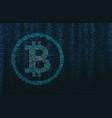 binary code bitcoin concept vector image