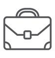 briefcase line icon baggage and bag portfolio vector image vector image