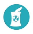 building factory nuclear isolated icon vector image vector image