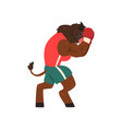 bull in sport uniform boxing with gloves funny vector image