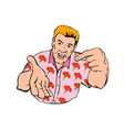 Businessman Pointing Hand vector image vector image