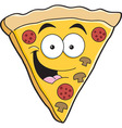 Cartoon slice of pizza vector image