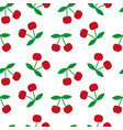 cherry seamless texture vector image